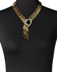 Rachel Zoe - Metallic Gold-plated Deco Fringe Necklace - Lyst