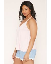 Forever 21 - Pink Plus Size Strappy Cami - Lyst