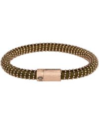 Carolina Bucci | Natural Rose Gold Vermeil Khaki Twister Bracelet | Lyst