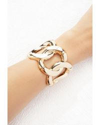 Forever 21 - Metallic Curb Chain Stretch Bangle - Lyst