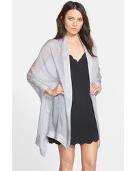 Glint - Gray Silk Chiffon Wrap - Lyst