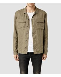 AllSaints | Natural Jutland Shirt for Men | Lyst