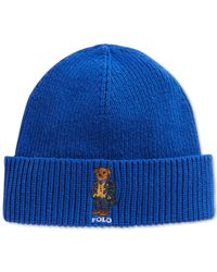 Polo Ralph Lauren | Blue Blackwatch Bear Beanie for Men | Lyst