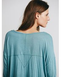 Free People - Blue We The Free Womens We The Free Borrowed Boyfriend Henley - Lyst