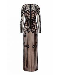 Temperley London - Black Long Catroux Dress - Lyst