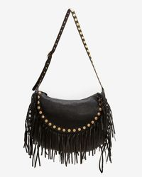 Valentino - Black Medallion Fringe Leather Hobo - Lyst