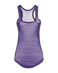 Étoile Isabel Marant - Purple Tank Top - Lyst