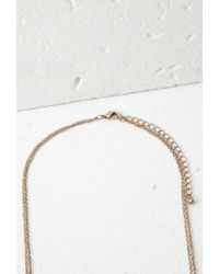 Forever 21 | Metallic Layered Horn Charm Necklace | Lyst
