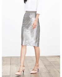 Banana Republic | Metallic Sequin Pencil Skirt | Lyst