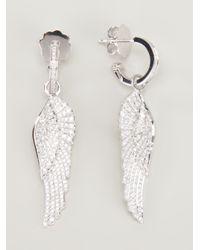 Garrard   Metallic Diamond Wing Earrings   Lyst