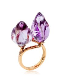 Alice Cicolini - Purple Double Lotus Amethyst Ring - Lyst