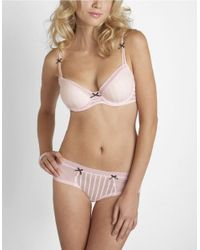 Betsey Johnson | Pink Stocking Stripe Demi Bra | Lyst