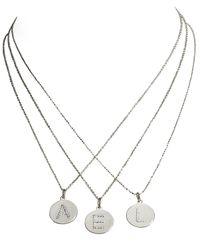 KC Designs | Metallic Diamond Letter Charms | Lyst
