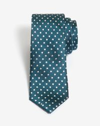 Ted Baker - Blue Spotty Silk Tie for Men - Lyst