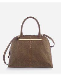Henri Bendel | Brown Premium Glitter Dome Satchel | Lyst