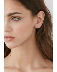 Forever 21 - Pink Shashi Circle Studs - Lyst