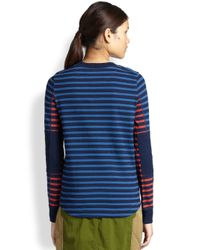 Marc By Marc Jacobs - Blue Tomiko Striped Cotton Tee - Lyst
