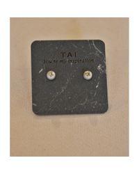 Tai | Metallic Pearl & Cz Stud | Lyst
