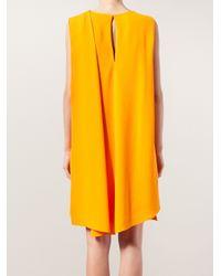 Narciso Rodriguez - Orange Wrap Dress - Lyst