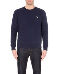 Paul Smith | Blue Zebra Crew-neck Cotton Sweatshirt for Men | Lyst