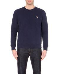 Paul Smith - Blue Zebra Crew-neck Cotton Sweatshirt for Men - Lyst