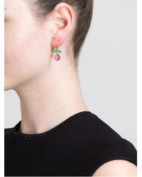 Marie-hélène De Taillac - Pink Emerald and Rubellite Drop Earrings - Lyst