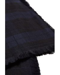 HUGO - Blue 'men-z' | Paisley Plaid Scarf for Men - Lyst