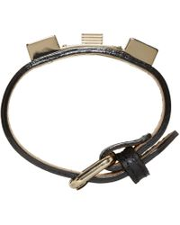 Proenza Schouler | Black Ps11 Leather Bracelet for Men | Lyst