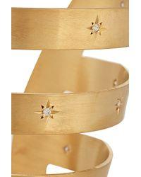 Iam By Ileana Makri - Metallic Ziggy Gold-Plated Cubic Zirconia Cuff - Lyst