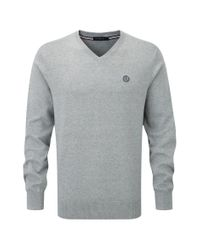 Henri Lloyd | Gray Moray Club V Neck Knit for Men | Lyst