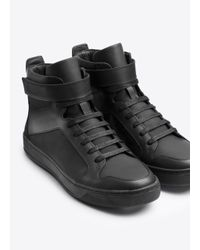 VINCE | Black Athens Leather Sneaker for Men | Lyst