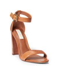 Ralph Lauren   Brown Kendal Leather Sandal   Lyst