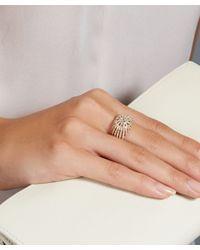 Astley Clarke - Metallic Rising Sun Lattice Diamond Ring - Lyst