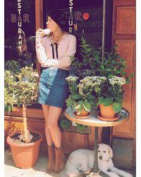 Free People - Blue Jackson Denim Skirt - Lyst