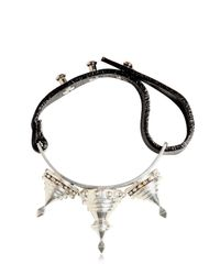 KTZ - Metallic Spiked Leather Bracelet for Men - Lyst