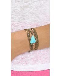 Pascale Monvoisin - Blue Fiona Wrap Bracelet - Turquoise/Brown - Lyst