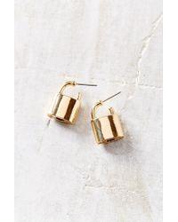 Urban Outfitters - Metallic Lock Me In Post Earrings - Lyst