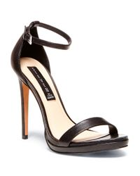 Steven by Steve Madden | Black Rykie Leather Stilettos | Lyst