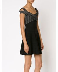 Hervé Léger - Black Bandage Flare Dress - Lyst