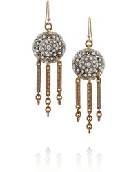 Lulu Frost | Metallic Goldtone Silvertone and Crystal Earrings | Lyst