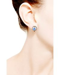 Dana Rebecca | Blue Emma Harper Oval Earrings | Lyst