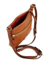 Dooney & Bourke | Brown Letter Carrier Crossbody Bag | Lyst