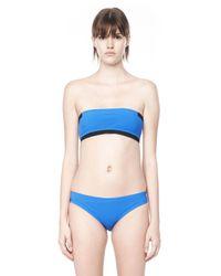 Alexander Wang - Blue Two Tone Reversible Bandeau Bikini Top - Lyst