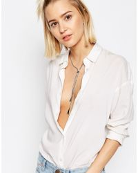 ASOS - Metallic Triangle Bolo Necklace - Lyst