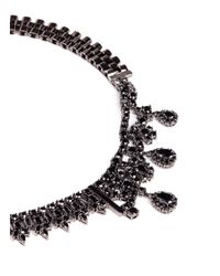 Iosselliani | Gray Asymmetric Zircon Watch Chain Necklace | Lyst