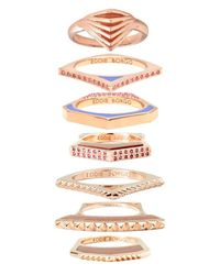 Eddie Borgo | Metallic Tuareg Ring Set Of 7 | Lyst