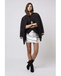 TOPSHOP - Black Longline Bomber Jacket By Kendall + Kylie At - Lyst