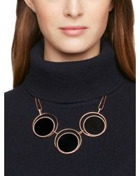 kate spade new york - Black In The Spotlight Necklace - Lyst