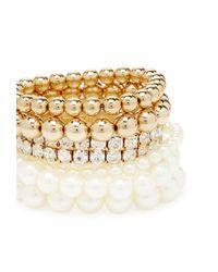 Forever 21 - Natural Faux Pearl Bracelet Set - Lyst
