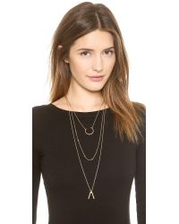 Madewell | Metallic Choker Double Chain Necklace - Vintage Gold | Lyst